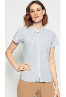 Camisa Listrada- Azul & Branca - Pacific Bluepacific Blue