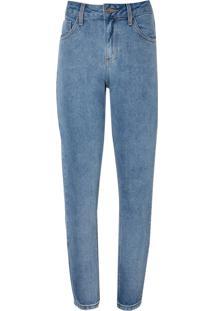 Calça Le Lis Blanc Girlfriend Cropped Clara Jeans Azul Feminina (Jeans Claro, 46)