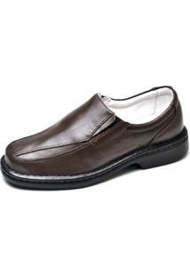 Sapato Conforto Top Franca Shoes Masculino - Masculino-Cafe