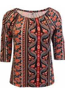 7b1d798c2e Blusa Laranja Pique feminina