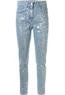 Chiara Ferragni Calça Jeans Skinny Com Estampa De Leopardo - Azul