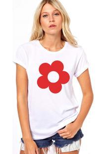 Camiseta Coolest Flor Branco