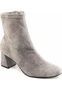 24857f4685 ... Bota Skinny Boot Veludo Feminino Cravo E Canela - Feminino-Cinza