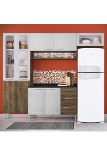 Cozinha Compacta 9 Portas Heloisa 0425T Demolição/Gelo 3D - Genialflex