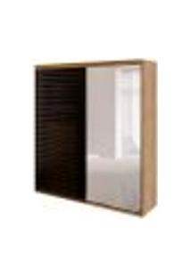 Guarda-Roupa Casal Com Espelho Autes 2 Pt 5 Gv Álamo E Preto
