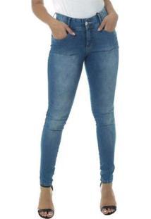 Calça Jeans Cigarrete Linda Z Mid Rise Skinny 206621298 Azul 48 - Feminino