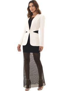 Blazer Richini Cut Out Off-White