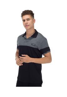 Camisa Polo Fatal Especial 20635 - Masculina - Preto/Cinza