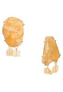 Brinco Feminino Lazuli G - Amarelo
