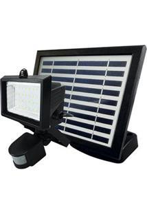 Refletor Taschibra Solar Prime Led Com Sensor De Presença 6500 K - Preto