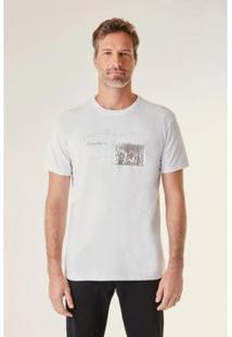 Camiseta Estampada Craudiadu Vj Reserva Masculina - Masculino-Branco