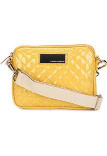Bolsa Loucos & Santos Mini Bag Matalassê Plaquinha Feminina - Feminino-Amarelo