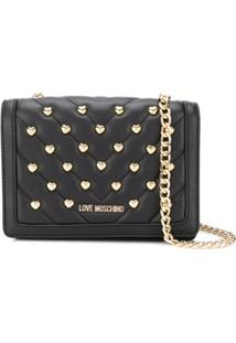 Love Moschino Quilted Cross Body Bag - Preto