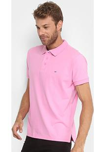 Camisa Polo Gangster Piquet Com Elastano Masculina - Masculino-Rosa Claro