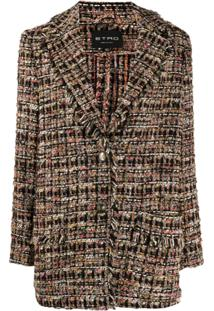Etro Tweed Balzer Coat - Preto