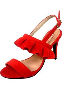 Sandália Blume Calçados Skirt Vermelha - Tricae