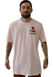 Camiseta Verse Gangster Rosa