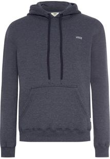 Blusa Masculina Malha Core Basics Pullover Hoodie - Cinza