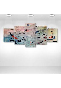 Quadro Decorativo - Abstract Art - Composto De 5 Quadros