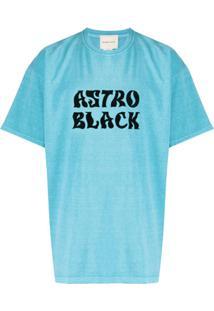 Nicholas Daley Camiseta Gola Careca Astro Black - Azul