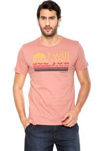 Camiseta Sommer Estampa Coral