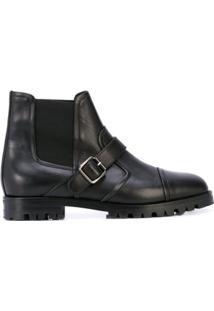 Manolo Blahnik Ankle Boot Com Fivela - Preto