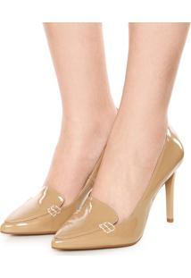 Scarpin Dafiti Shoes Bico Fino Bege