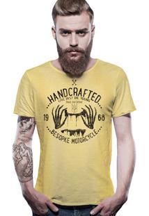 Camiseta Estonada Corte À Fio Estampada Joss Handcrafted