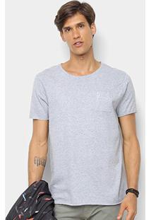 Camiseta Derek Ho C/ Bolso Masculina - Masculino-Mescla