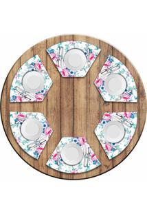Jogo Americano Love Decor Para Mesa Redonda Wevans Floral Premium Kit Com 6 Pã§S - Multicolorido - Dafiti
