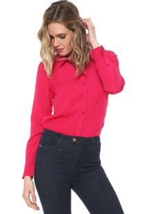 Camisa Aishty Reta Lisa Pink