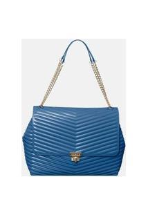 Bolsa Petite Jolie Alça Corrente Azul Azul