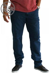 Calça Masculina Plus Size Shyro'S Jeans Básica Azul