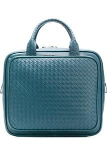 Bottega Veneta Intrecciato Travel Bag - Azul