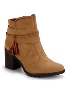 Ankle Boots Salto Grosso Bebecê