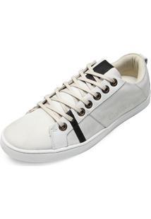 Tênis Couro Calvin Klein Logo Branco