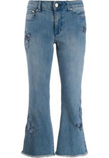 Michael Michael Kors Calça Jeans Cropped - Azul