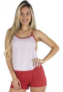6f39cd65a Pijama Curto Vermelho feminino
