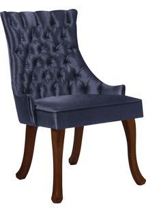 Cadeira Luis Xv T1091-Daf Mobiliário - Azul Marinho
