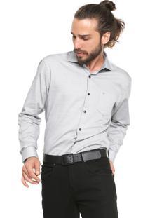 Camisa Vr Reta Padronagem Cinza