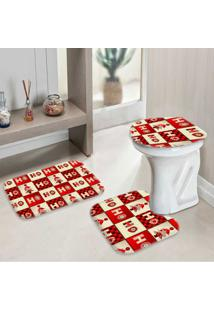 Jogo Tapetes Para Banheiro Ho Ho Ho