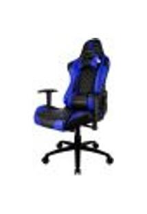 Cadeira Gamer Office Giratória Com Elevação A Gás Tgc12 H01 Preto Azul - Thunderx3