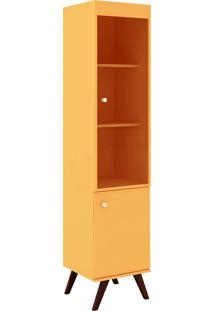 Cristaleira 2 Portas 1 De Vidro Rt 3074 Amarelo - Móvel Bento