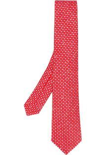 Kiton Gravata Com Padronagem - Vermelho