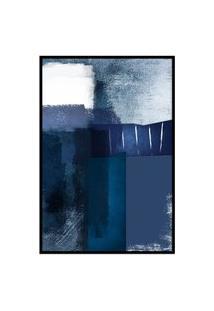 Quadro 60X40Cm Abstrato Textura Eskuila Moldura Preta Com Vidro Oppen House