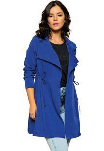 Blazer Feminino Azul Bic