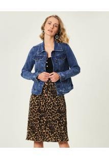 Jaqueta Slim Jeans Sustentável Malwee Azul Claro - Gg
