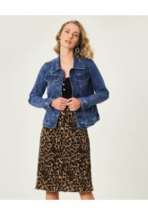 Jaqueta Slim Jeans Sustentável Malwee Azul Claro - Pp