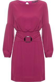 Vestido Curto Fivela - Vermelho