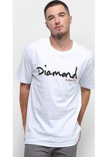 Camiseta Diamond Og Script Masculina - Masculino